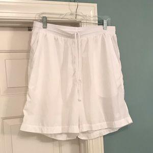 Adidas athletic shorts. Men's white size Large
